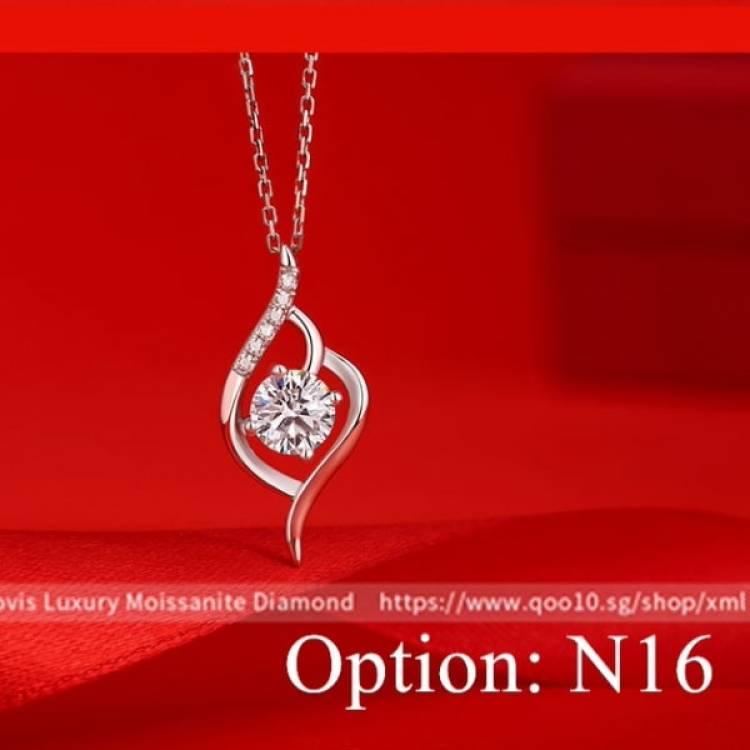 Moissanite Luxury Multiple Diamond Pendant Necklace Jewelry