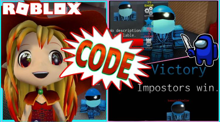 ROBLOX GAMEPLAY IMPOSTOR! CODE and WINNING AS THE LONE IMPOSTOR