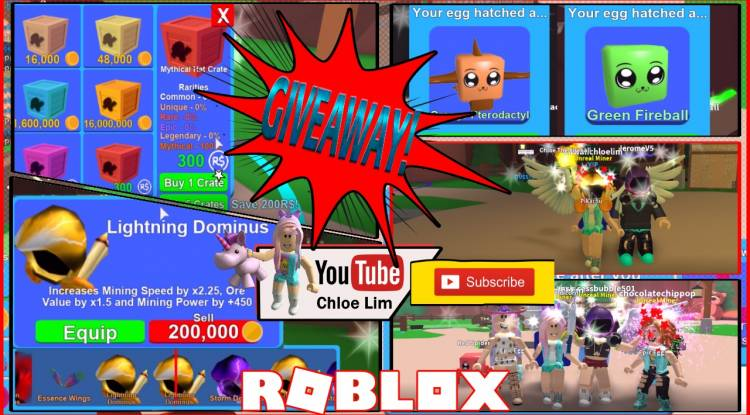 Roblox Mining Simulator Gamelog - June 9 2018