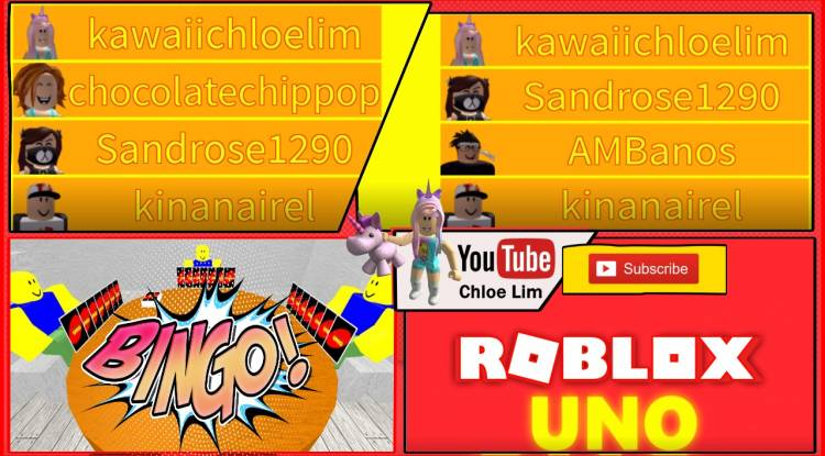 Roblox Uno Gamelog - June 22 2018