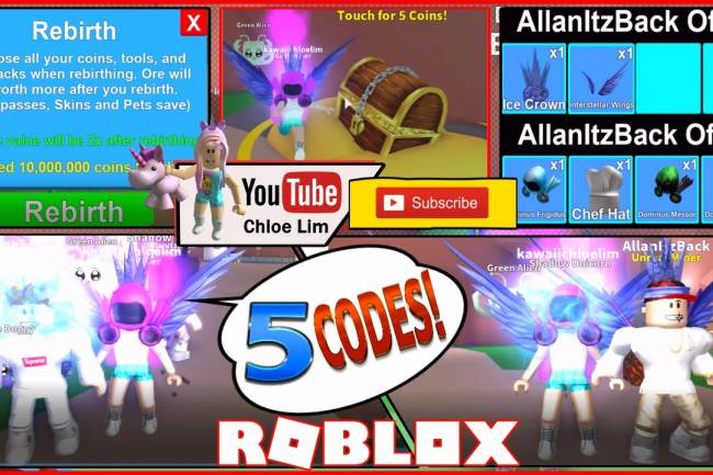 Roblox Mining Simulator Gamelog - May 21 2018