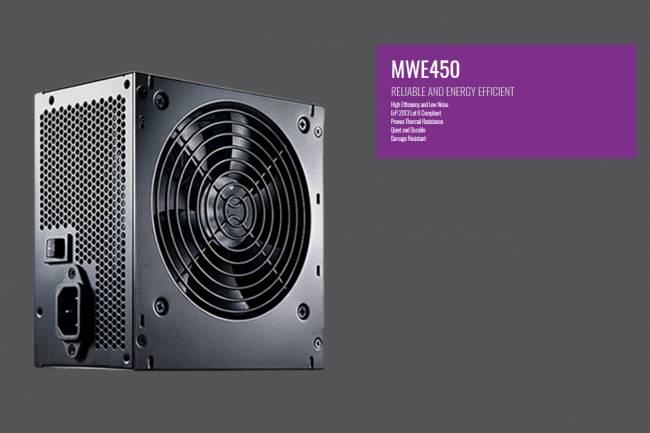 Cooler Master MWE 450 Watt 80+ 230v Eu UK Power Supply