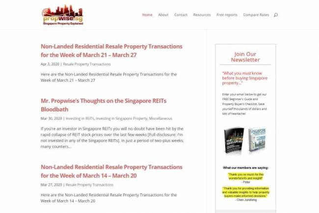 Propwise.sg - Singapore Property Blog | Investing in Singapore Real Estate, HDB, Condos, Houses | Singapore Property Explained